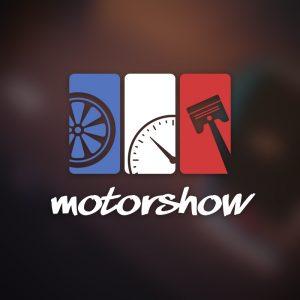 Motorshow – Wheel gauge piston automotive logo free logo preview