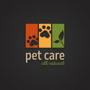Pet care – Paw plant animal food logo vector free logo preview