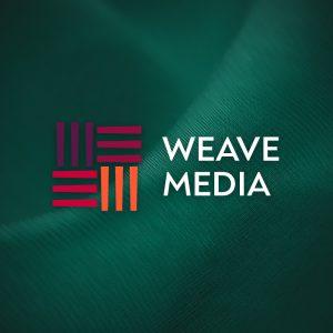 Weave Media – Free modern minimal fabric logo free logo preview