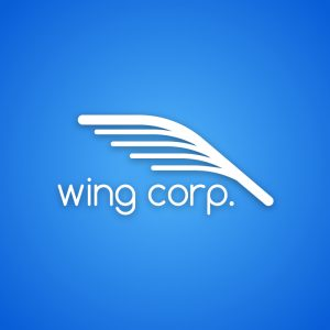 Wing corp – Free abstract airline logo vector free logo preview