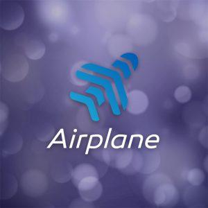 Airplane – Free flight travel transport logo free logo preview