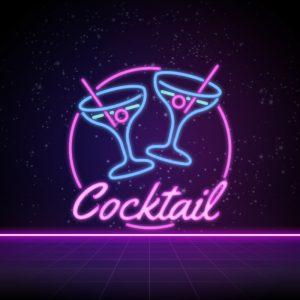 Cocktail – Free neon martini drink bar logo free logo preview