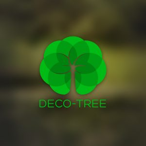 Deco-tree – Free geometric nature tree logo free logo preview