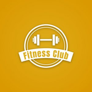 Fitness Club – Free gym workout dumbbell logo free logo preview