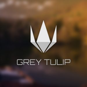 Grey Tulip – Free abstract flower plant logo free logo preview