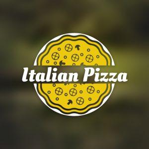 Italian Pizza – Restaurant food logo vector free logo preview