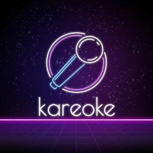 Kareoke – Free neon karaoke microphone logo free logo preview