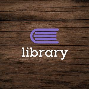 Library – Minimal book education logo vector free logo preview