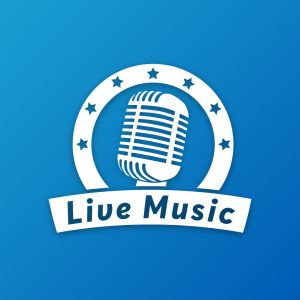 Live Music – Vintage retro microphone logo free logo preview