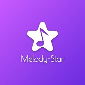 Melody-Star – Free musical note logo download free logo preview