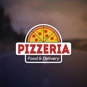 Pizzeria Food & Delivery – Free pizza logo free logo preview