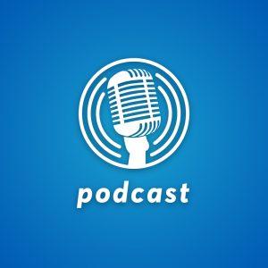 Podcast – Free vintage retro microphone logo free logo preview