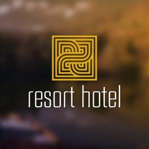 Resort Hotel – Free decorative estate logo free logo preview