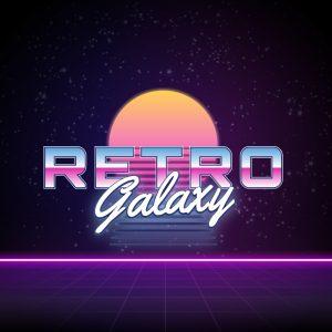 Retro Galaxy – Neon retro sunset logo design free logo preview