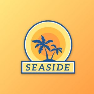 Seaside – Free holiday palm beach logo vector free logo preview