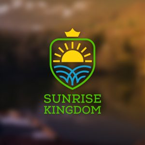 Sunrise Kingdom – Royal shield sun sea logo free logo preview