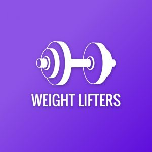 Weight Lifters – Dumbbell barbell fitness logo free logo preview
