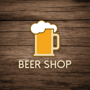 Beer Shop – Free draft glass foam logo vector free logo preview