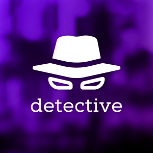 Detective – Private eye hat investigator logo free logo preview