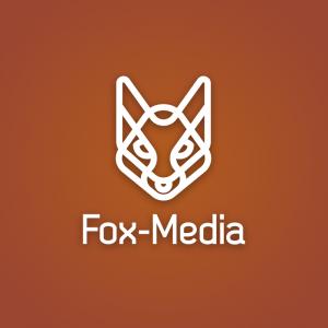 Fox-Media – Free geometric animal head logo free logo preview