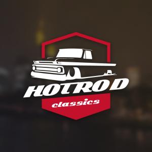 Hot Rod Classics – Free retro vintage car logo free logo preview