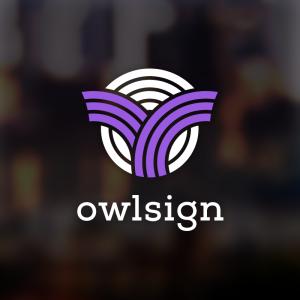 Owlsign – Free abstract owl bird head logo free logo preview