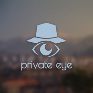 Private Eye – Detective hat investigation logo free logo preview