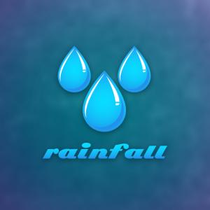 Rainfall – Free water drop rain logo download free logo preview