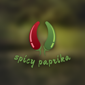 Spicy Paprika -Hot pepper chilly food logo free logo preview