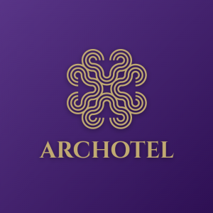 Archotel – Free geometric luxury logo vector free logo preview