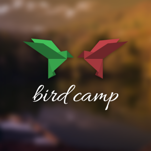 Bird Camp – Free origami animal logo download free logo preview