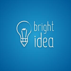 Bright Idea – Pencil light bulb logo vector free logo preview