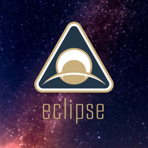 Eclipse – Free space planet badge logo vector free logo preview