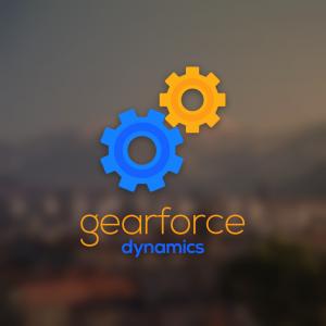 Gearforce – Geometric sprocket logo vector free logo preview
