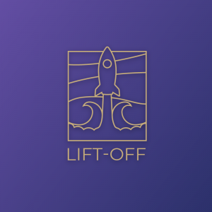 Lift-off – Outline rocket launch vector logo free logo preview