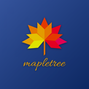 Mapletree – Geometric nature leaf logo vector free logo preview