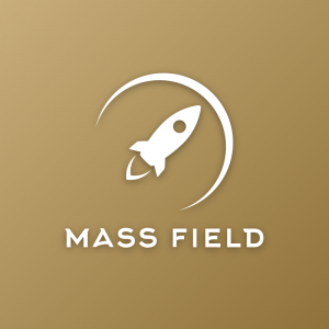 Mass Field – Minimal rocket barrier logo design free logo preview