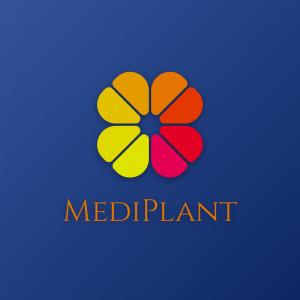 Mediplant – Nature clover color minimal logo free logo preview