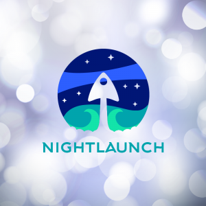 Nightlaunch – Free space flight vector logo free logo preview