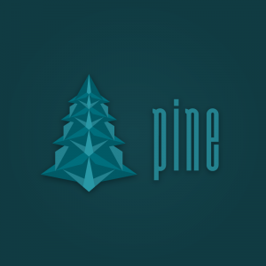 Pine – Free vector tree graphic logo design free logo preview