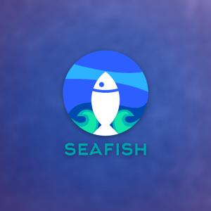 Seafish – Free geometric fish under sea logo free logo preview