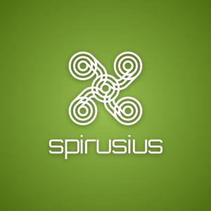 Spirusius – Free circle drone spinner logo free logo preview