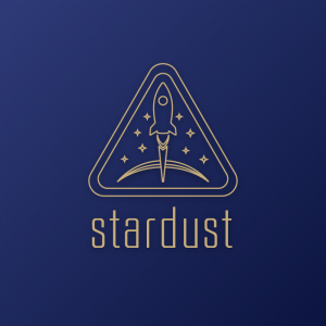 Stardust – Space rocket outline logo vector free logo preview
