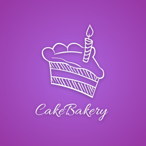 Cake Bakery – Candle pastry bake logo vector free logo preview