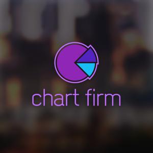 Chart firm – Free finance pie chart logo free logo preview