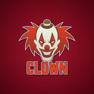 Clown – Creepy clown halloween logo vector free logo preview