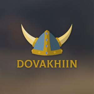 Dovakhiin – Free fantasy norse helmet logo free logo preview
