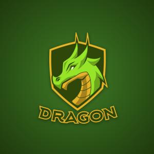 Dragon – Animal mascot fantasy logo design free logo preview