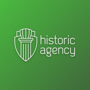 Historic Agency – Column pillar outline logo free logo preview
