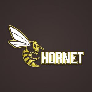 Hornet – Wasp bee logo mascot stinger design free logo preview